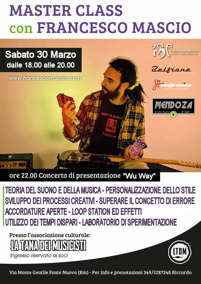 "Master Class con Francesco Mascio + ""Wu Way"" Live"